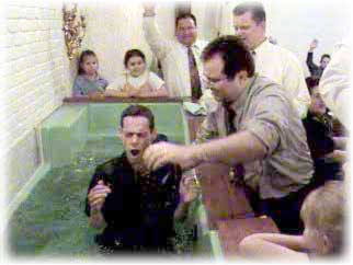 "3. Bury the ""old you"" in a watery grave through baptism in Jesus name, thus fulfilling Mat. 28:19 by obeying Acts 2:38."